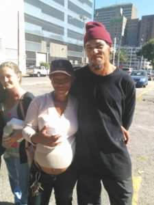 Homeless couple in New Orleans